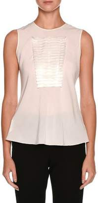Giorgio Armani Sleeveless Silk Shell with Origami Panel