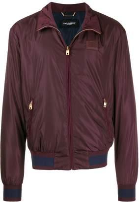 Dolce & Gabbana mock neck bomber jacket