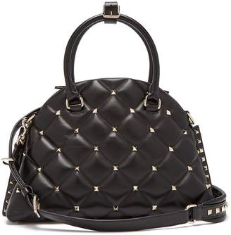 Valentino Candystud quilted leather dome bag