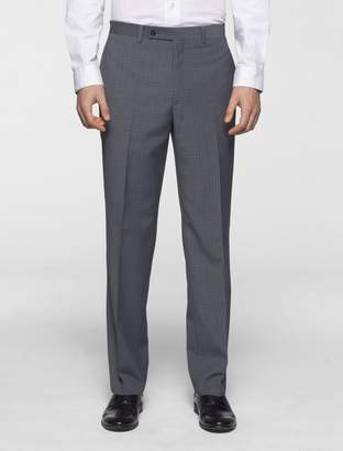 Calvin Klein body slim fit grey plaid suit pants