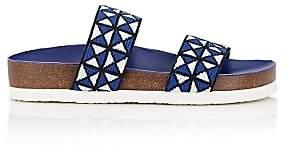 Tory Sport Women's Mosaic Elastic Double-Band Sandals - Dk. Blue
