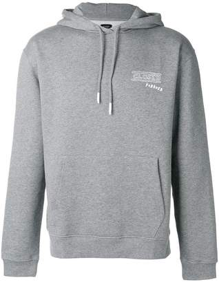 Closed logo patch hoodie