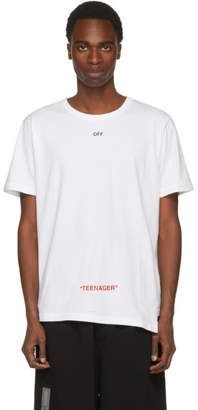 Off-White White Youth Spliced T-Shirt