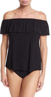Magicsuit Kris Off-the-Shoulder Tankini Swim Top, Black