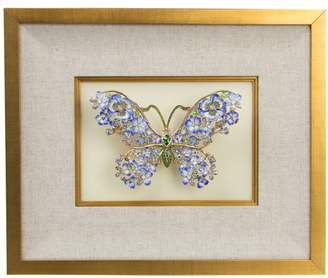 Jay Strongwater Vaneesa Mille Fiori Butterfly Wall Art