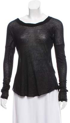 Rag & Bone Distressed Long Sleeve Top