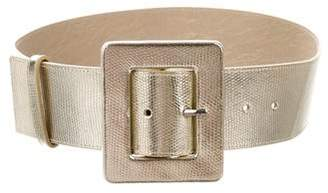Alice + Olivia Metallic Leather Belt