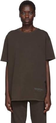 Essentials Khaki Boxy T-Shirt