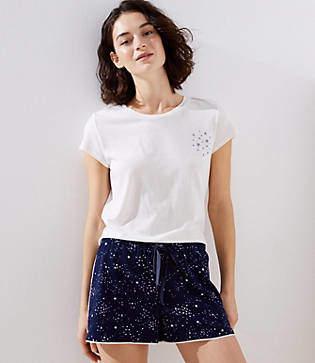 LOFT Star Pajama Shorts