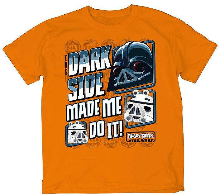 Star Wars Angry birds made me do it tee - boys 8-20
