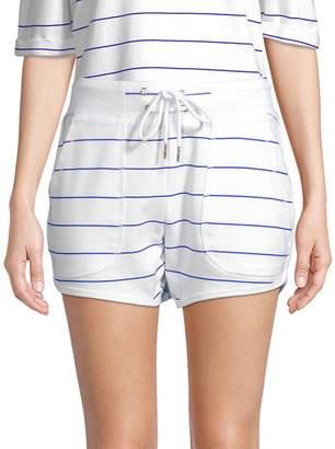 Nanette Lepore Women's Striped Dolphin-Hem Shorts