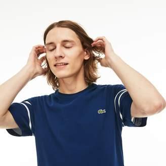 Lacoste Men's Crew Neck Piping Cotton Petit Pique T-shirt