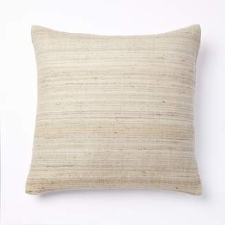 west elm Woven Silk Pillow Cover - Belgian Flax