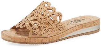 Sesto Meucci Senta Cutout Cork Comfort Sandals