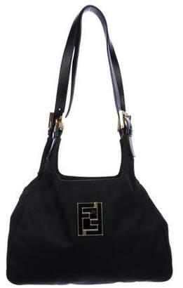 Fendi Nylon Logo Shoulder Bag
