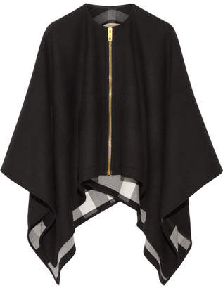 Burberry - Asymmetric Merino Wool Poncho - Black $895 thestylecure.com