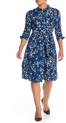 Modern American Designer Colorful Animal Print Shirt Dress