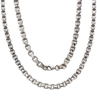 FINE JEWELRY Mens Stainless Steel 24 5mm Box Chain Necklace