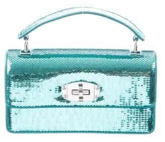 Miu Miu 2018 Sequin-Embellished Top Handle Bag