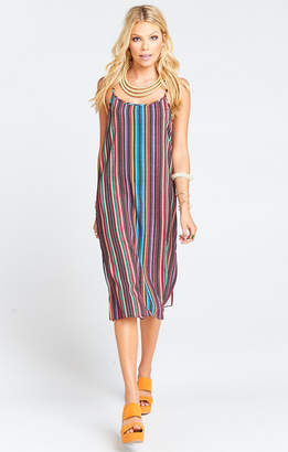 Show Me Your Mumu Shiloh Tassel Slip Dress ~ Siesta Siesta Stripe Crinkle