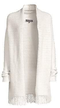 St. John Women's Textural Inlay Knit Cardigan