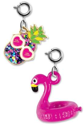 High Intencity CHARM IT!(R) 2-Pack Glitter Pineapple & Flamingo Float Charms