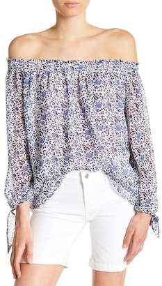 Kensie Jeans Off-the-Shoulder Floral Blouse