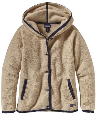 Patagonia Women's Shearling Fleece Hooded Cardigan $169 thestylecure.com