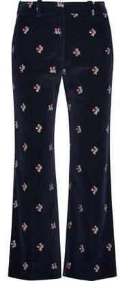 Maison Margiela Embroidered Velvet Flared Pants