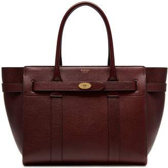 Mulberry Zipped Bayswater Oxblood Natural Grain Leather
