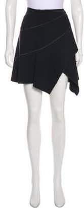 Alaia Asymmetrical Mini Skirt