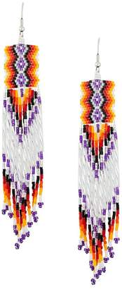 Jessie Western bead fringed earrings