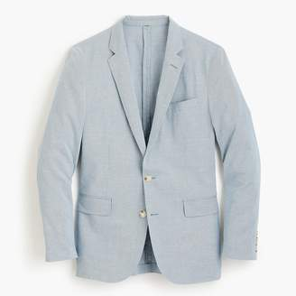 J.Crew Ludlow Slim-fit unstructured suit jacket in houndstooth cotton-linen