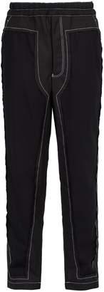 Comme des Garcons Loose-fit wool-blend trousers