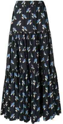 La Doublej bird print full skirt