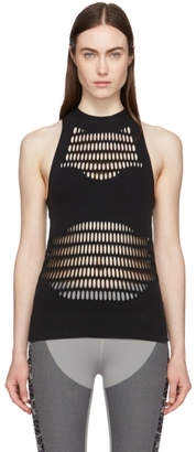 adidas by Stella McCartney Black Warp Knit Tank Top