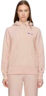 Champion Reverse Weave Pink Small Logo Hoodie