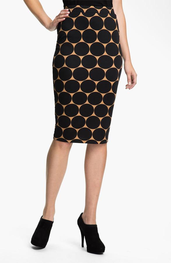 Bobeau Dot Midi Skirt