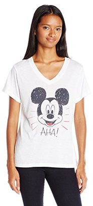 Disney Women's Mickey and Minnie V-Neck T-Shirt $17.50 thestylecure.com