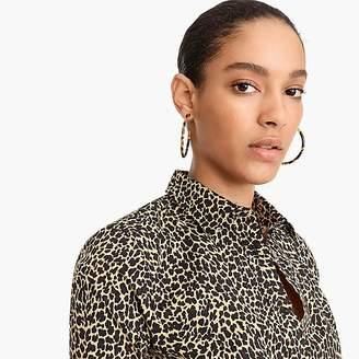 J.Crew Curvy slim stretch perfect shirt in leopard print