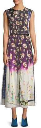 Marc Jacobs Sleeveless Photographic Floral-Print A-Line Tank Dress