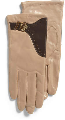 Two Tone Glace Leather Gloves