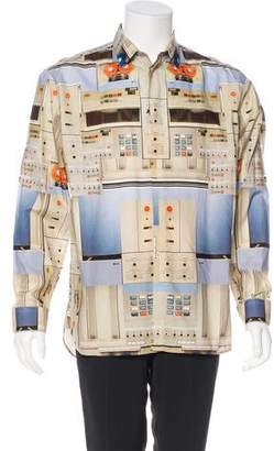 Givenchy Cassette Print Button-Up Shirt w/ Tags