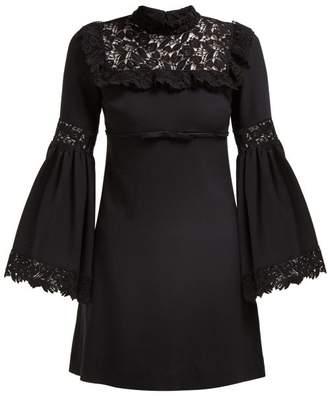 Giambattista Valli Lace Trimmed Crepe Dress - Womens - Black
