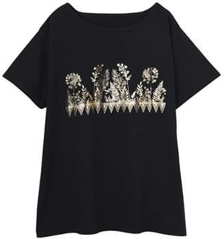 STYLE DELI (スタイル デリ) - STYLE DELI ボタニカル箔プリントTシャツ