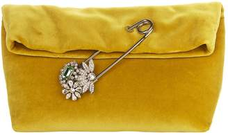 Burberry Small Velvet Pin Clutch Bag