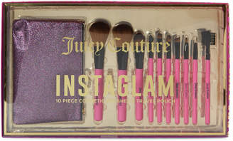 Juicy Couture 10-Piece Cosmetic Brushes & Travel Pouch Set