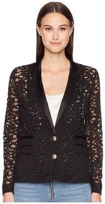 The Kooples Lace and Satin Jacket Women's Coat