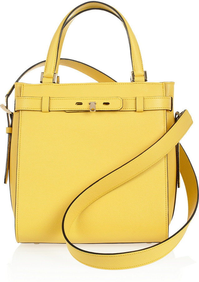 Valextra B-Cube Textured-Leather Tote