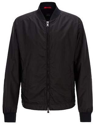 Lightweight blouson jacket in water-repellent ripstop fabric